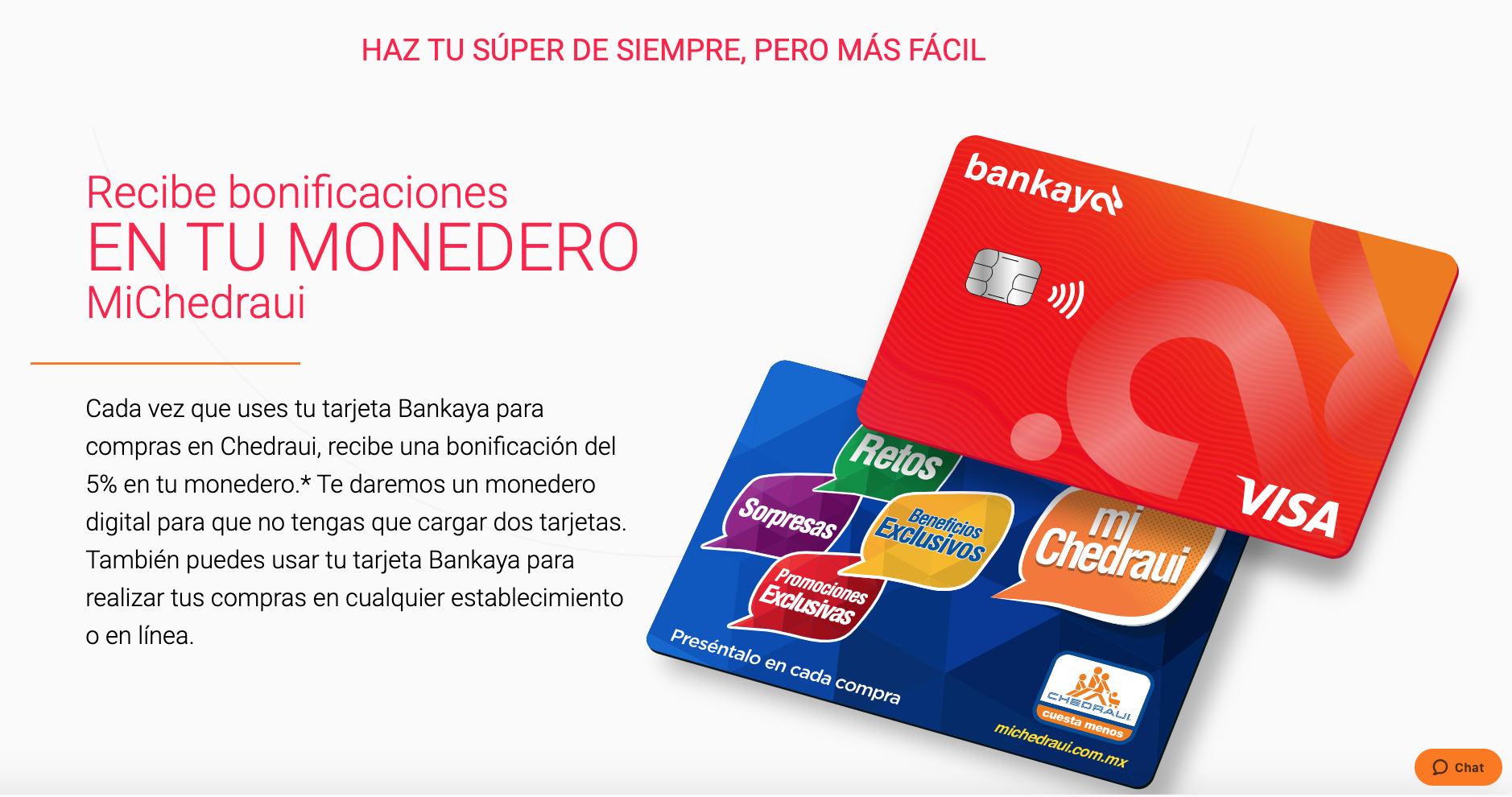 Bankaya reembolsos Monedero Chedraui