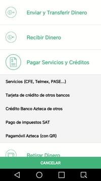 banco azteca pago de servicios