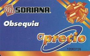 Tarjeta de regalo Soriana